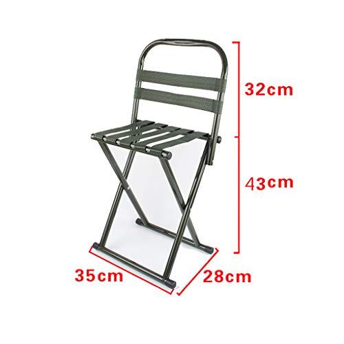 WEIFAN-Furniture Tragbarer Klappstuhl im Freien ausklappbarer Hocker im Freien jederzeit 35 × 28 × 73Cm