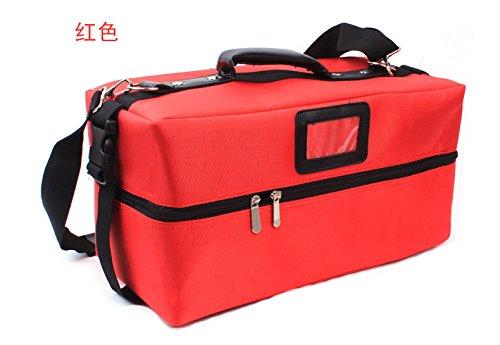 RY@ Cas de cosmétiques artiste multifonctionnel portatif dédié épaule compact maquillage professionnel (38 * 18 * 18 cm) , red