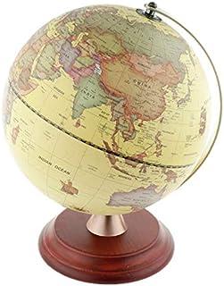 WHHHuan 1pc dia 23cm LED lumière Vintage Ornements en Bois Geografia Globo Do Mapa Mundi Earthe World Globe Constellation ...