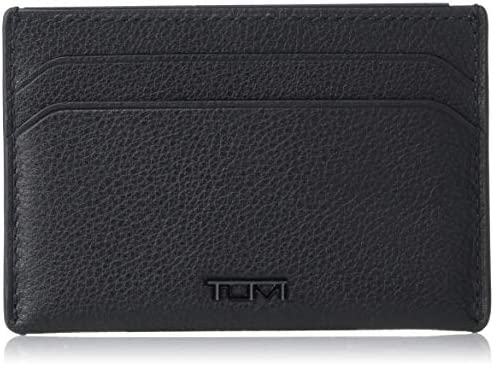 TUMI Nassau Slim Card Case Wallet with RFID ID Lock for Men Black Texture product image