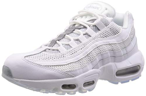 Nike Men's Air Max 95 Essential Track & Field Shoes, Multicolour (White/White/Pure Platinum/Reflect Silver 115), 7.5 UK