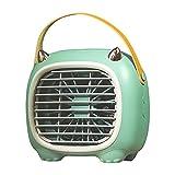 Nrew Ventilador de Aire Acondicionado portátil con Ventilador de enfriamiento de Aire Personal de 3 velocidades con Mango Verde 180 * 115 * 166 mm