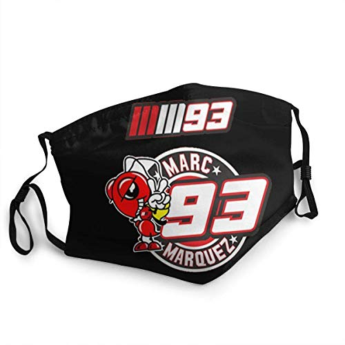 Marc Marquez Wiederverwendbare nahtlose Sturmhaube Aktivkohle mit austauschbaren Bandanas Kopftuch Persönlichkeit für Männer Frauen