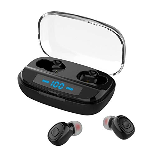 Bluetooth イヤホン Lermom Losei 片耳両耳 ワイヤレスヘッドホン V4.1 ヘッドセット大部分スマホ対応(黒)