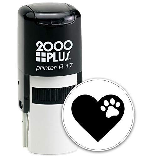 Self Inking Stamp Ink Stamp Stock Stamp Self Ink Stamp Craft Supplies Ink Stamper Tiny Paw Prints Dog Lover Cosco Round Self Inking Rubber Stamp - Black Ink (C-646)