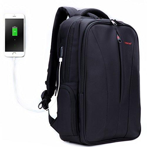 Fubevod Tigernu Business Laptop Backpack Sottile antifurto Computer di Viaggio Zaini Borsa per Laptop Impermeabile per Gli Uomini/Donne con Porta USB di Ricarica 15.6 Pollici Nero
