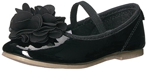 Carter's Girls' Penelope2 Ballet Flat, Black, 10 M US Toddler