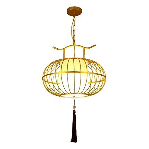 CHNOI Araña - luz de Techo China Antigua Jaula de pájaro del Oro con la decoración de la Borla Colgante Lámpara Colgante Accesorio for la Seguridad del Dormitorio Sala de Estar