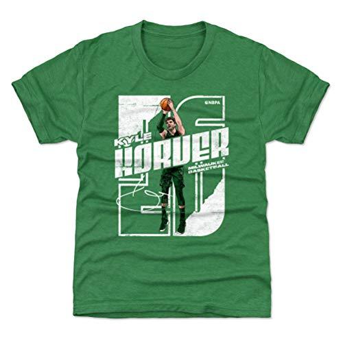 500 LEVEL Kyle Korver Milwaukee Youth Shirt (Kids Shirt, Medium (8Y), Heather Kelly Green) - Kyle Korver Stretch WHT