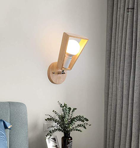Clásico Madera lámpara de pared Moderno Minimalismo Diseño Creativo Moda Dentro por Sala sala Restaurante Cafetería Cuarto Lámpara retro Arte de hierro Decoración Lámparas de pared Cabeza ajustable