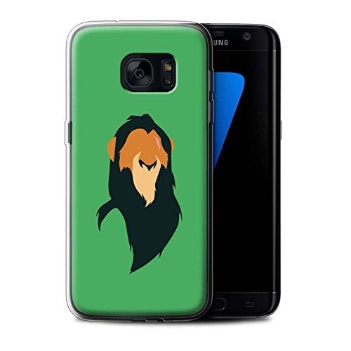 Stuff4 custodia/cover/Skin/SG GC/cartone animato African Animals Collection Scar Inspiriert Samsung Galaxy S7 Edge/G935