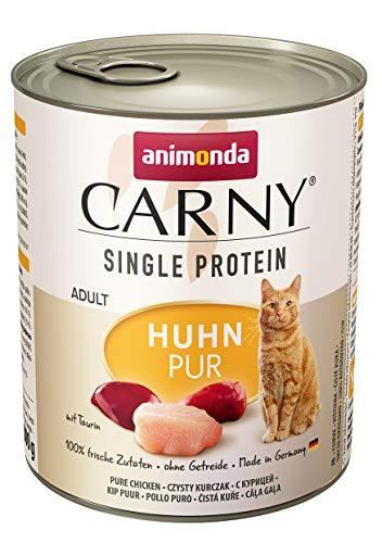 animonda Carny Single Protein adult Katzenfutter, Nassfutter für ausgewachsene Katzen, Huhn Pur, 6 x 800 g