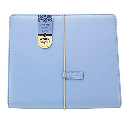 Wilson Jones WorkStyle Cut and Sewn Round Ring Binder, 1 Inch Capacity, Letter Size, Blue (Pack of 3)