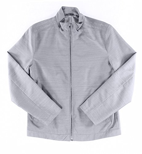 Alfani Men's Lightweight Bomber Jacket (Medium, New Grey)