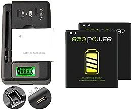 2 PCS RAQPower B600BC Durable B600BU Li-ion Battery 3000 mAh + 1 PCS Universal Charger For Samsung Galaxy S4 SCH-R970C