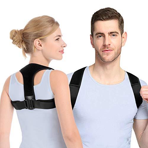 Anoopsyche Rücken Geradehalter, Haltungskorrektur für Damen Herren mit 2 Schulterpolster, Schultergurt Haltungskorrektur Posture Corrector Einfach zu Tragen und Effektiv,S