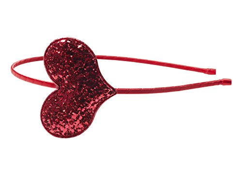 Anna Belen'Olivia' Glitter Heart Headband O/S Red