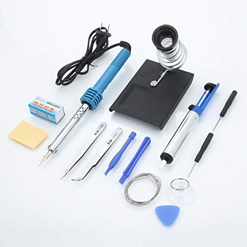 Metal & Plastic Soldering Iron Pack, 110V 60W (US Standard Plug), 14pcs, Blue & Silver - Electric Welder, Welding Machine, Welding Equipment Tools Accessories