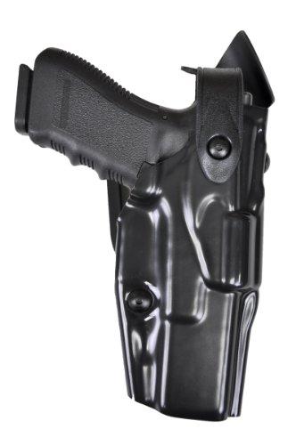 Safariland 6360 Level 3 Retention ALS Duty Mid Ride Holster, STX Black Hi-Gloss, Right Hand, Glock 34, 35