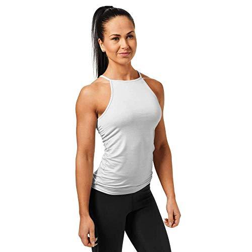 Better Bodies Camiseta de Tirantes para Mujer, Mujer, Camiseta sin Mangas, 29687, Color Blanco Oscuro, Large