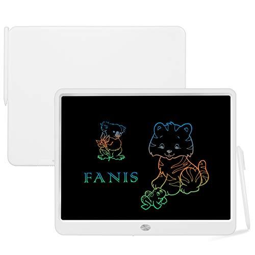 FANIS - Tableta de Escritura LCD de 15 Pulgadas con lápiz óptico, Tablero de Dibujo gráfico electrónico Digital, portátil borrable para niños, Familia, Escuela, Negocios, Oficina