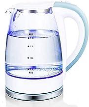 غلاية كهربائية زجاجية، 1.8 لتر غلاية تحكم في درجة الحرارة، تحافظ على غلاية الماء اللاسلكية، غلق تلقائي، 100% خالية من البي...