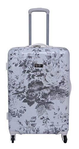 Jessica Simpson Winter Bloom Hardside Spinner, 24', Off White, One Size