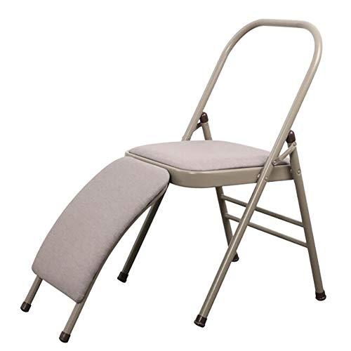 XIAOBAI Yoga Stuhl multifunktionaler Yoga Hilfsstuhl kühner und Dicker Klappstuhl Metall Easy Store Büro, Sitzgelegenheiten Haushaltswaren Gepolstert