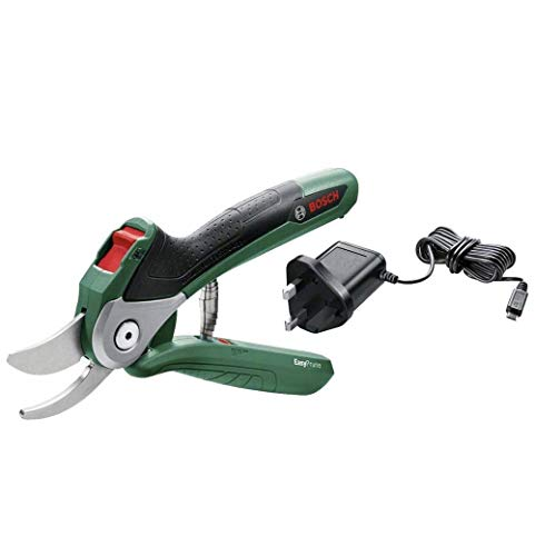 Bosch 06008B2070 Cordless Secateurs EasyPrune (Integrated 3.6 V, 450 Cuts/Battery Charge in Blister Pack), Green
