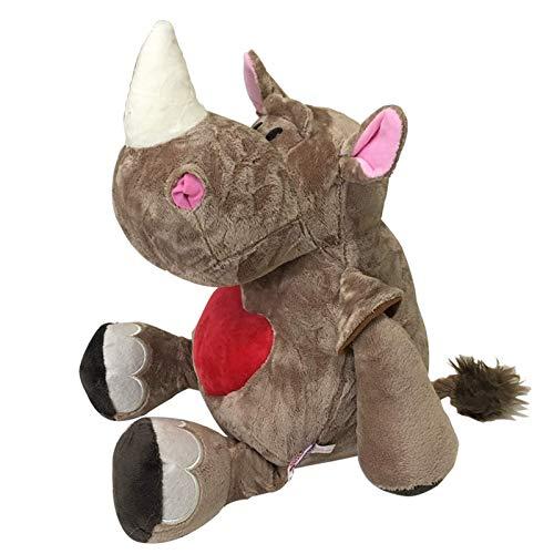 Dfngiq Love Rose Rhino Feo Menghe Menghe Horse Plus Día de San Valentín de Juguete Cumpleaños de Navidad Mano de Regalo