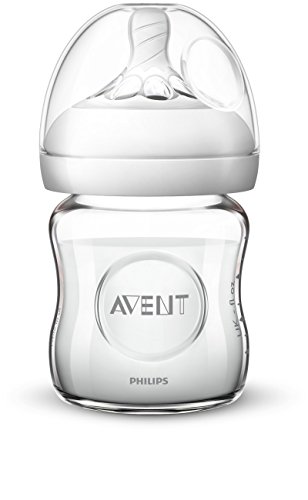Philips Avent Natural Glass Baby Bottle, Clear, 4oz, 1pk, SCF701/17