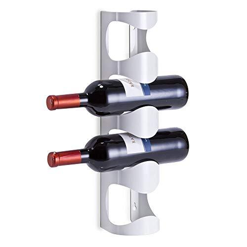 YUHT Estanterías de vinos,Botelleros,Botellero metálico para Montar en la Pared, Estantería de Botellas de Vino, Botellero para Botellas de Vino,Soporte para 4 Botellas de Vino
