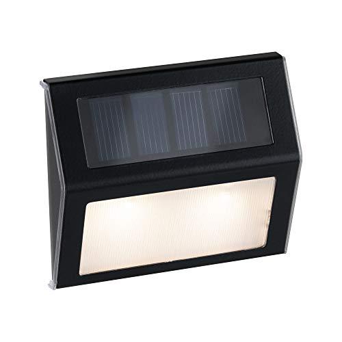 Paulmann 94234 Solar Stufenleuchte/Treppenleuchte LED Außenleuchte incl. 1x0,05 Watt Anthrazit Kunststoff 3000 K Warmweiß, 0.05 W