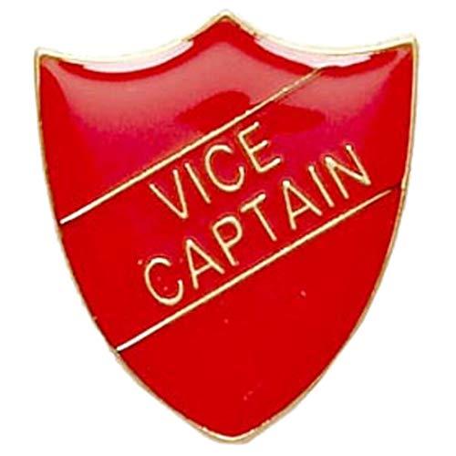 Schraubstock Captain Shield Form Badge was ideal für Schulen, Rot