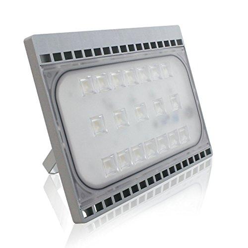 50W LED Projecteurs Lampe, Blanc froid, Ultraléger, Design Mince, IP65 Imperméable, Lampadaire Lumière Puissante, Eclairage de Sécurité, pour Éclairage Extérieur et Intérieur