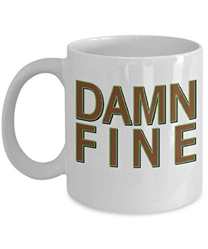 Damn Fine Coffee Mug, Funny, Cup, Tea, Gift for Christmas, Father's Day, Xmas, Dad, Anniversary, Mother's Day, Papa, Heart, Santa