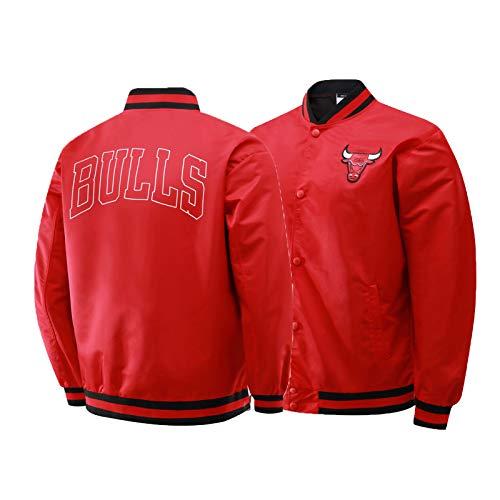 CNMDG Chicago Bulls 23# Chaqueta Michael Jordan, Camiseta de Baloncesto Moda de Manga Larga Chaqueta, Ropa Deportiva de Entrenamiento de Baloncesto Unisex (S-2XL) Red-S