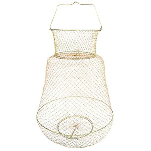 LAQI Net Crab Crawdad Cage Fischkorb Faltbare tragbare Stahldraht Angeln Topf Falle
