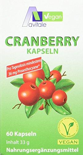 Avitale Cranberry Vegan Kapseln 400 mg, 1er Pack (1 x 60 Stück)