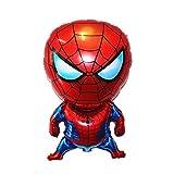 zcm Globo Globo superhéroe Spiderman, Superman de Juguete de Regalo de Iron Man Partido del Globo de cumpleaños de Papel de Aluminio Decoración Infantil (Color : 1PCS-4)