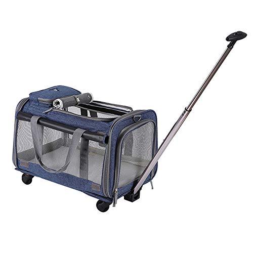 B-1 Transportin para Perros Gatos Trolley Mascota con Asa Telescópica Viaje Mochila...