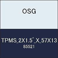 OSG テーパーエンドミル TPMS_2X1.5゚_X_57X13 商品番号 85521