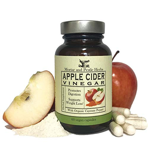 Herbal Roots Organic Apple Cider Vinegar Capsules with Mother and Organic Cayenne - Digestive Support - 650 mg - Vegan - Made in The USA