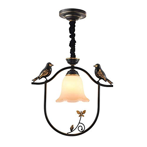 Gymqian Outdoor Waterproof Chandelier, Personalized Resin Chandelier Fashion Wrought Iron Dining Table Chandelier Ceiling Lamp Cafe Restaurant Black Decorative Lamp gfhgf