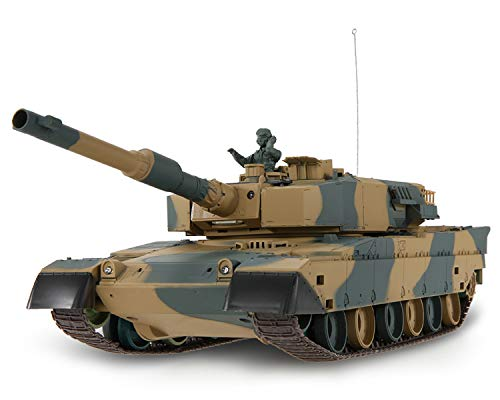 POCO DIVO Type 90 Japan Battle Tank RC Airsoft Panzer 1/24 Scale Model 2.4Ghz Remote Control Military Vehicle Combat Fight Infrared BB