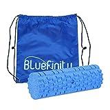 Bluefinity Massagerolle Plus mit Relief, Selbstmassagerolle 30,5 cm lang, 10 cm Durchmesser, für Faszientraining, Faszienrolle gegen Verspannungen, Fitnessrolle zur Selbstmassage, blau
