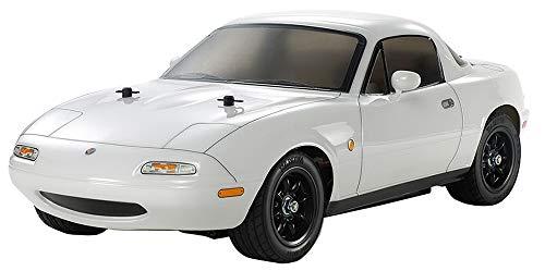 TAMIYA 300047431 1:10 Eunos Roadster (M-06), ferngesteuertes Auto, RC Fahrzeug, Modellbau, Bausatz zum Zusammenbauen, Hobby, Basteln