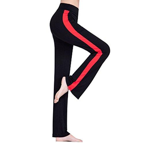 junkai Leggings für Frauen - Damen Jogginghose Yogahose High Waist Schlaghose Freizeithose Mit Seitenstreifen Elastic Weich Fitnesshose Laufenhose