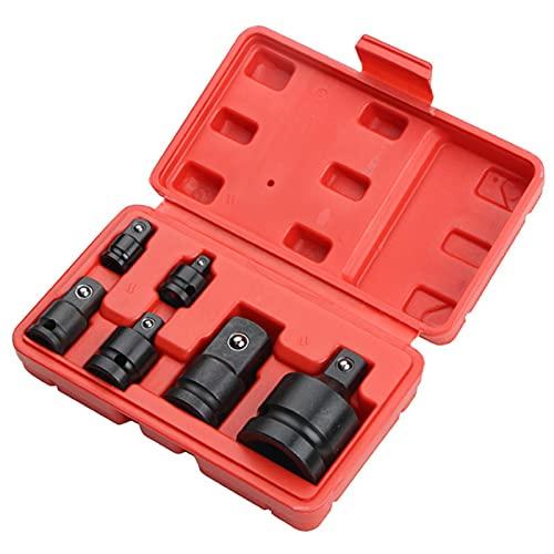 Juego de boquillas de impacto de 6 puntas, adaptador de toma de neumático, herramienta de reparación de coches con caja de herramientas