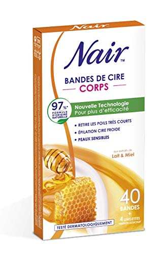 Nair Bandes de cire froides corps lait et miel - Les 40 bandes